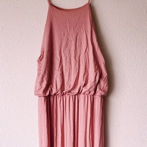 Women Maxi Coral Pink Summer Dress